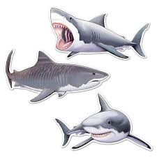 shark 24 cutouts wall decals u0026 cutouts u0026 individual party supplies