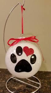personalized glittered pet ornament ornament cat pet