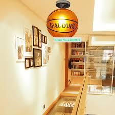 Sports Light Fixtures Shop Porch Brown Basketball L Glass Ceiling Ls Modern