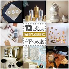 metallic home decor 12 metallic glam diy projects