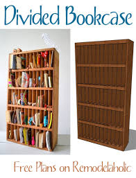 Furniture Plans Bookcase Free by Remodelaholic Divided Bookcase Building Plan