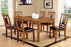 amazon com furniture of america lazio 7 piece transitional