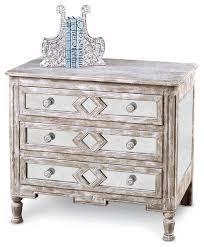 calais french country diamond antique mirror bedside chest 34