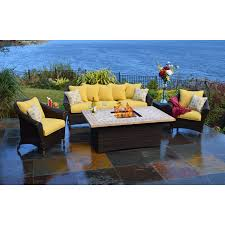 Patio Dining Sets With Fire Pits by Furniture Sets Fire Pit Furniture Sets Fire Amalia 4person Luxury