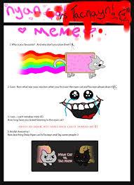 Nyan Meme - nyan cat vs tac nayn meme by ulla andy on deviantart