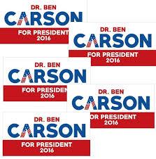 ben carson presidential bid ben carson for president bumper sticker