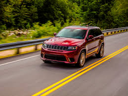 jeep hawk track 2018 jeep grand cherokee trackhawk first review kelley blue book