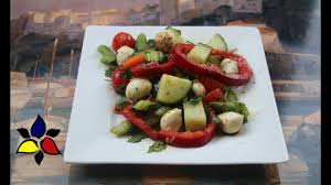 italian bocconcini and mixed vegetable salad keto gluten free