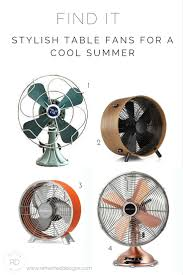 find it stylish table fans for a cool summer u2014refreshed designs