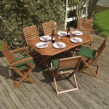 6 Seater Patio Furniture Set - 7 piece hardwood eucalyptus wood garden furniture set 6 seater