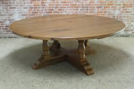 Round Dining Table For 8 With Lazy Susan 86 Inch Round Table With Monterey Pedestal Ecustomfinishes