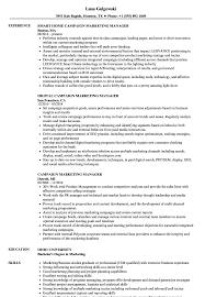 managment resume campaign marketing manager resume samples velvet jobs