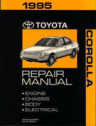 1995 toyota corolla repair manual toyota amazon com books