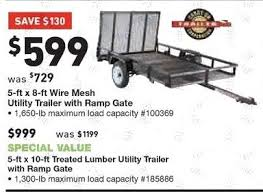 lowe u0027s black friday 5 ft x 8 ft wire mesh utility trailer with