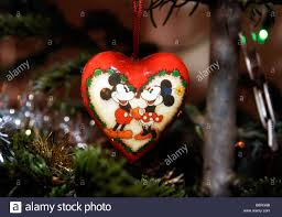 Minnie Mouse Christmas Decorations Mickey And Minnie Mouse Christmas Tree Decoration Stock Photo