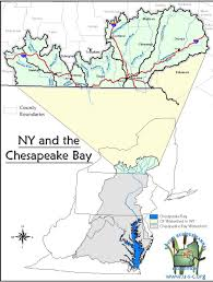 The Map Of Us Map Of New York U0027s Chesapeake Bay Watershed Nys Dept Of