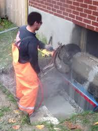 case study concrete basement window concrete wall cut out and