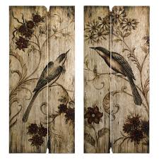imax norida bird wood wall art set of 2 hayneedle