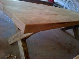 rustic table seats 10 recycled and reclaimed wood with natural