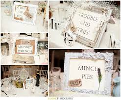 Ideas For Wedding Table Names Cockney Rhyming Slang Table Names Unique Shabby Chic Wedding Ideas