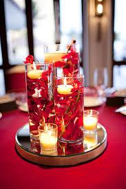top 25 best fake flower centerpieces ideas on pinterest diy our diy red wedding submerged floral centerpieces halekulani hau terrace