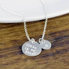 Personalized Stamped Necklace Hand Stamped Mommy Necklace Hand Stamped Necklaces For Moms