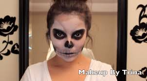 scary skull halloween makeup tutorial youtube