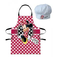 tablier de cuisine hello tablier et toque chef minnie