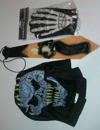 party city men halloween costumes skeleton man halloween costume with tie mask gloves from party