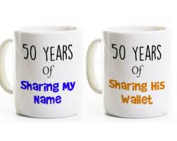 his and mug 50th anniversary gift his and coffee mugs 50 years