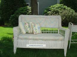 White Wicker Glider Loveseat by Furniture Exciting Wicker Loveseat For Inspiring Outdoor