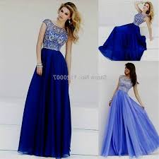 royal blue and silver dress with sleeves 2017 2018 best clothe shop