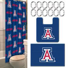 Bathroom Sets Shower Curtain Rugs by Ncaa University Of Arizona Wildcats Bathroom Set Fitness