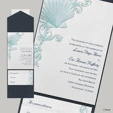 Embossed Invitation Cards Disney Beneath The Waves Invitation Ariel Invitations By Dawn