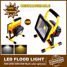 10w rechargeable flood light 10w emergency led reflector rechargeable portable floodlight 110v