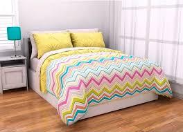 Chevron Bedding For Girls by 5pc Adorable Yellow Pink Aqua Green Reversible Chevron Twin