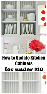Painting Inside Kitchen Cabinets How To Update Kitchen Cabinets For Under 10 And A Giveaway
