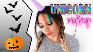 Halloween Unicorn Half Unicorn Half Human Halloween Makeup Tutorial 2016 Rainbow