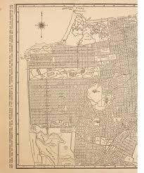 san francisco map framed vintage framed city map san francisco high market