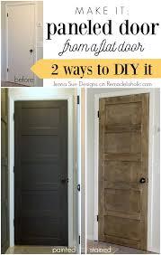 Interior Door Makeover Update A Plain Hollow Door Into A Beautiful 5 Panel Door