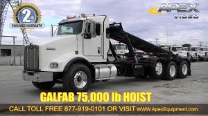 kenworth trucks 4 sale 2009 kenworth t800 roll off truck for sale youtube