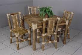 Bamboo Dining Table Set Bamboo Dining Table And Chairs Marceladick
