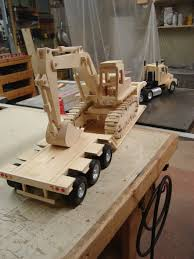 Build Big Wooden Toy Trucks by Rear View Of Truck With Excavator Toys Pinterest Rear View
