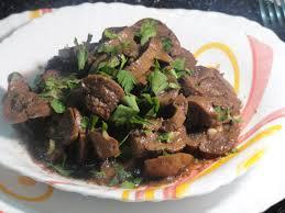 cuisine rognon rognon de veau sauté à l ail persil et harissa plat algérien