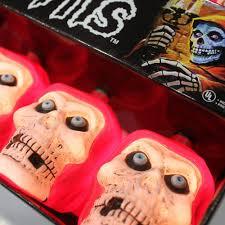 Halloween Skull Lights by Official Misfits Red Fiend Decorative Light Set Misfits Shop