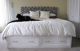 Platform King Bed With Storage White King Storage Bed Diy Projects