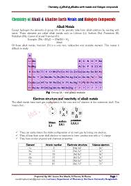 Alkaline Earth Metals On The Periodic Table Chemistry Of Alkali And Alkaline Earth Metals And Halogen Compounds M U2026