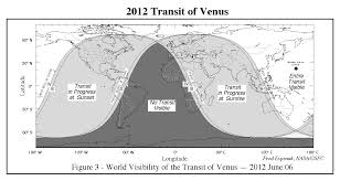 Venus Map Nasa 2004 And 2012 Transits Of Venus