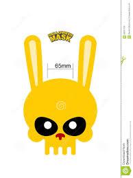 rabbit mask halloween skull hare rabbit mask for halloween vector illustration stock