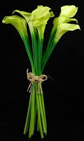 Calla Flower Touch Hand Tied Green Calla Lily Wedding Bouquet 14
